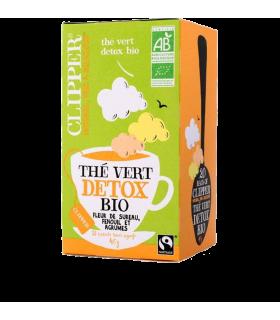 Thé vert Détox Bio  fleur de sureau et d'agrumes boîte de 20 sachets