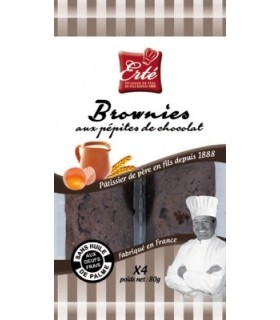 BROWNIES CHOCOLAT 80G Biscuiterie ERTE