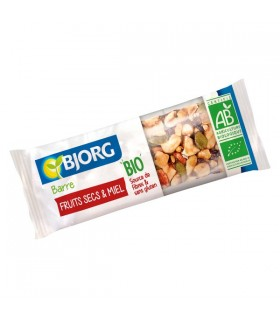 BJORG BARRES FRUITS SECS&MIEL 25GX 30 BARRES
