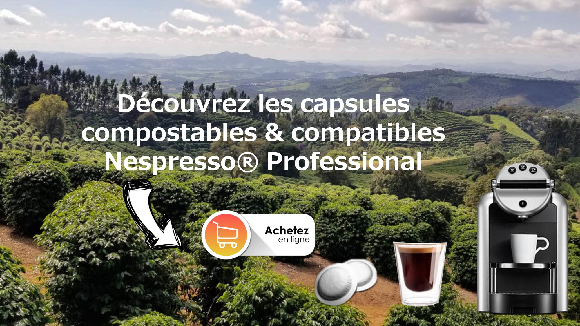 capsules café compostables compatibles nespresso professionnel